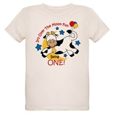 Cow Over Moon 1st Birthday T-Shirt