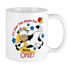 Cow Over Moon 1st Birthday Mug