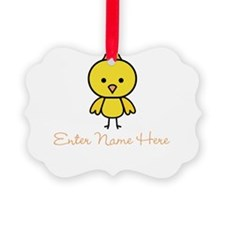 Personalized Baby Chick Picture Ornament