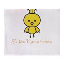 Personalized Baby Chick Throw Blanket