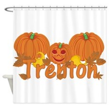 Halloween Pumpkin Trenton Shower Curtain