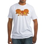 Halloween Pumpkin Trevor Fitted T-Shirt