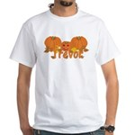 Halloween Pumpkin Trevor White T-Shirt