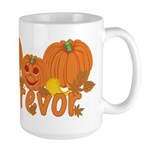 Halloween Pumpkin Trevor Large Mug
