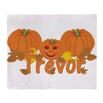 Halloween Pumpkin Trevor Throw Blanket