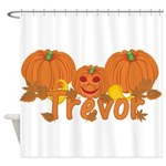 Halloween Pumpkin Trevor Shower Curtain