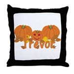 Halloween Pumpkin Trevor Throw Pillow
