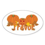 Halloween Pumpkin Trevor Sticker (Oval)