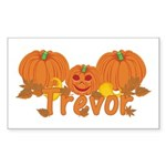 Halloween Pumpkin Trevor Sticker (Rectangle)