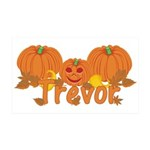 Halloween Pumpkin Trevor 35x21 Wall Decal