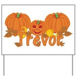 Halloween Pumpkin Trevor Yard Sign