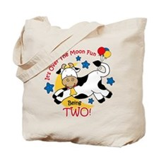 Cow Over Moon 2nd Birthday Tote Bag