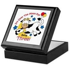 Cow Over Moon 3rd Birthday Keepsake Box
