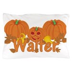 Halloween Pumpkin Walter Pillow Case