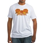 Halloween Pumpkin Walter Fitted T-Shirt