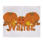 Halloween Pumpkin Walter Throw Blanket