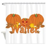 Halloween Pumpkin Walter Shower Curtain