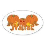 Halloween Pumpkin Walter Sticker (Oval)
