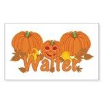 Halloween Pumpkin Walter Sticker (Rectangle)