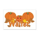 Halloween Pumpkin Walter 20x12 Wall Decal