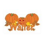 Halloween Pumpkin Walter 35x21 Wall Decal