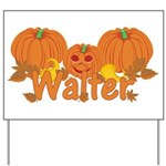 Halloween Pumpkin Walter Yard Sign