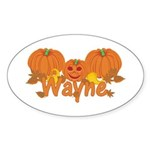 Halloween Pumpkin Wayne Sticker (Oval)