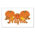 Halloween Pumpkin Wayne Sticker (Rectangle)