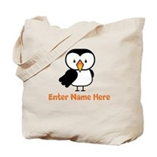 Personalized Puffin Tote Bag