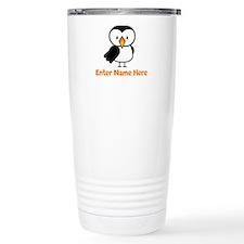 Personalized Puffin Travel Mug
