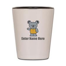Personalized Koala Bear Shot Glass