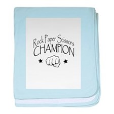 rock paper scissors champion baby blanket