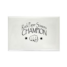 rock paper scissors champion Rectangle Magnet