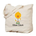 Ultra Chick Peace Love 100 Tote Bag