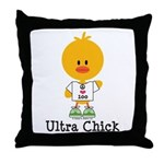 Ultra Chick Peace Love 100 Throw Pillow