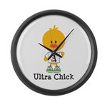 Ultra Chick Peace Love 100 Large Wall Clock
