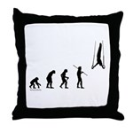 Gymnast Evolution2 Throw Pillow