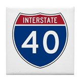 I-40 Highway Tile Coaster