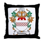 Delamere Coat of Arms Throw Pillow