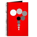 Red Background Question Mark Journal