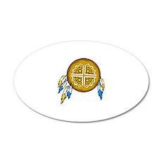 Native American Culture 38.5 x 24.5 Oval Wall Peel