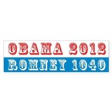 Obama 2012 Romney 1040 Bumper Bumper Sticker