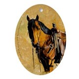 Buckskin Quarter Horse Oval Ornament