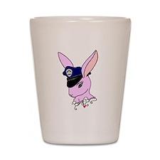 Badge Bunny Shot Glass