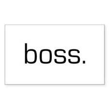 Boss Rectangle Stickers