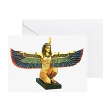 Winged Maat Greeting Card
