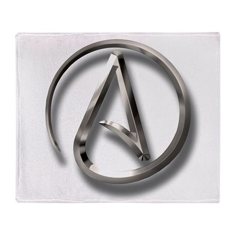 International Atheism Symbol Throw Blanket