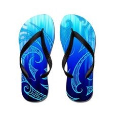 Blue Moko Flip Flops