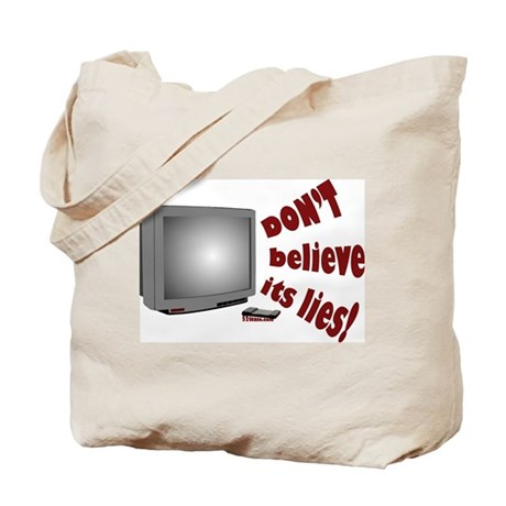 Television Lies anti-TV Tote Bag