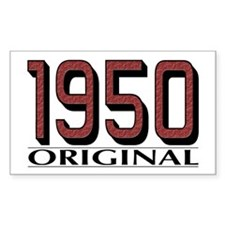 1950 Original Rectangle Decal